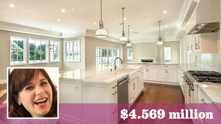 """""""New Girl"""" star Zooey Deschanel paid $4.569 million for a six-bedroom home in Manhattan Beach."""