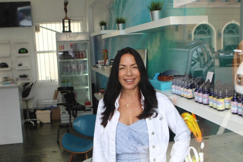 Carla Ann Parra, owner of Lifely Wellness, had an encounter in front of her La Jolla store that some people find difficult to believe.