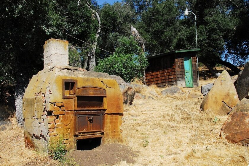 Remnants of days gone by still stand near the historic Daley ranch house, including this brick oven. Robert Daley came here from England in 1869. The family farmed and raised horses on the land.