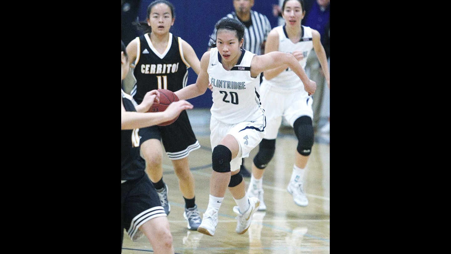 Photo Gallery: Flintridge Prep girls' basketball vs. Cerritos in CIF Southern Section Division III-A game