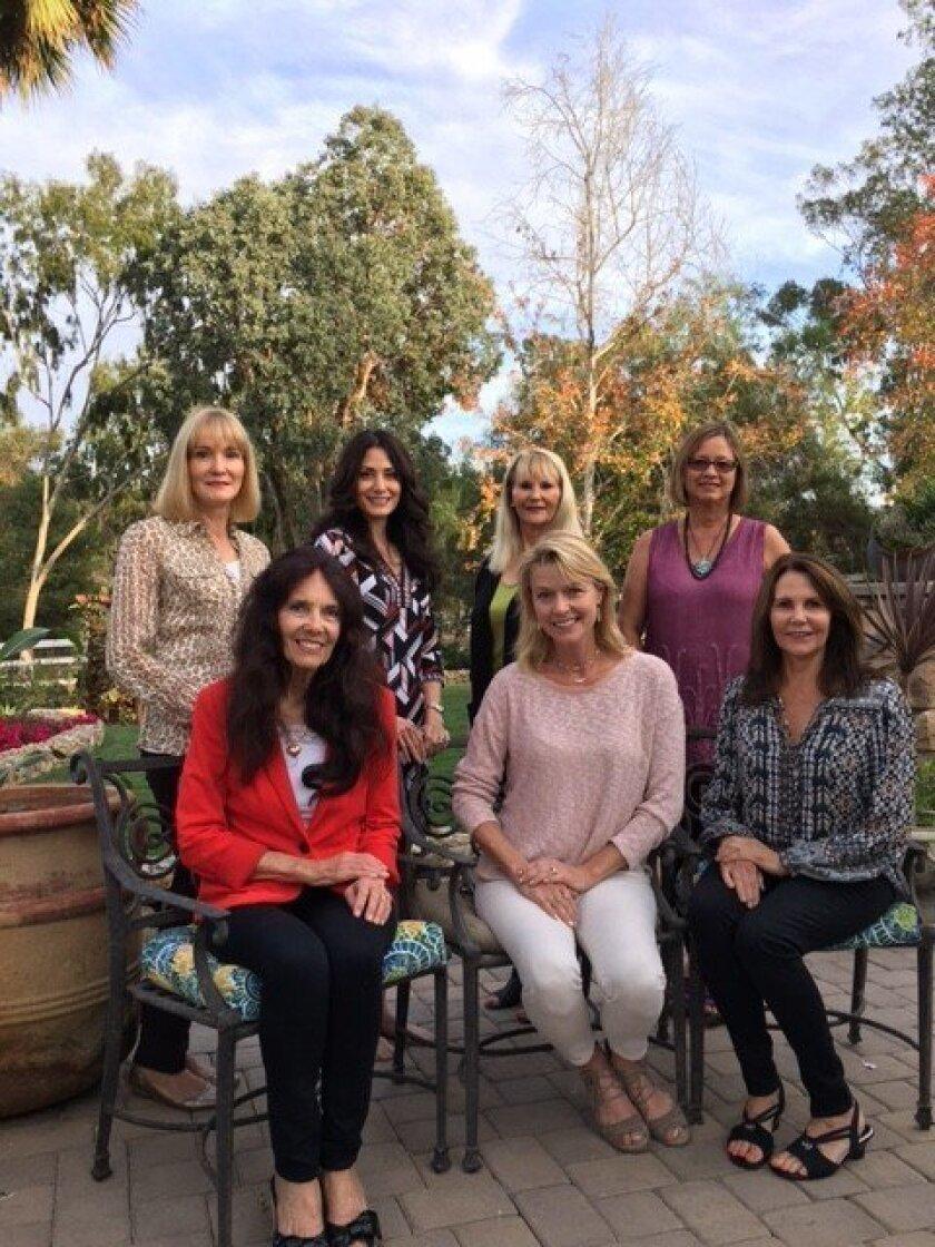 Shown in bottom row are: Teri Summerhays, Karen Ventura and Kathy Lathrum. Shown in top row are: Dagmar Helgager, Andrea Reynolds, Joan Scott and Lois Jones.