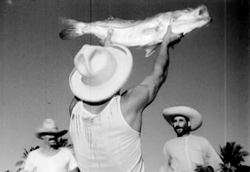 """Scene from the movie """"Redes"""" (1936), the story of burgeoning labor rights among poor fishermen in a small village in Mexico."""