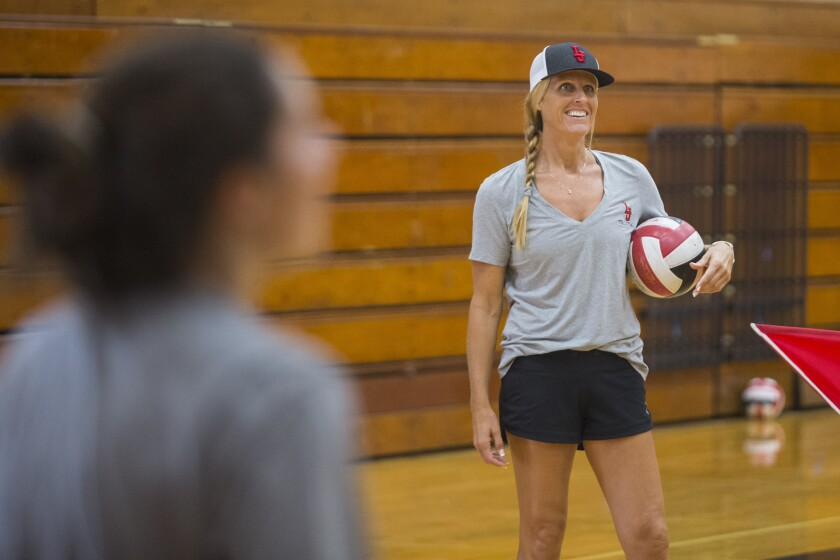 Coach Kelly Drobeck's La Jolla girls volleyball team is ranked No. 3 in the San Diego Section.