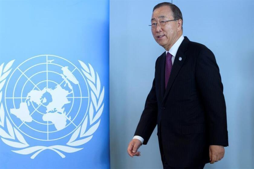 """El secretario general de la ONU, Ban Ki-moon, aseguró hoy que su mayor remordimiento al dejar el cargo a final de este año será la continuación de la """"pesadilla en Siria"""". EFE/ARCHIVO"""
