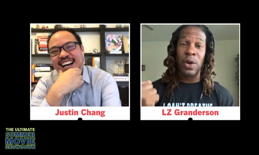 Los Angeles Times film critic Justin Chang and sports and culture columnist LZ Granderson