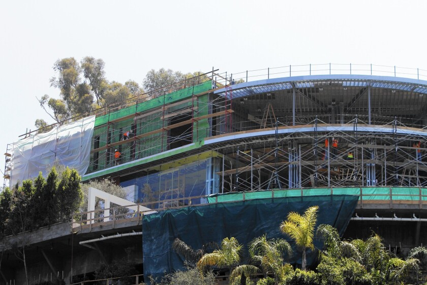 In September, building officials revoked permits on a large Bel-Air mansion, effectively shutting down construction.