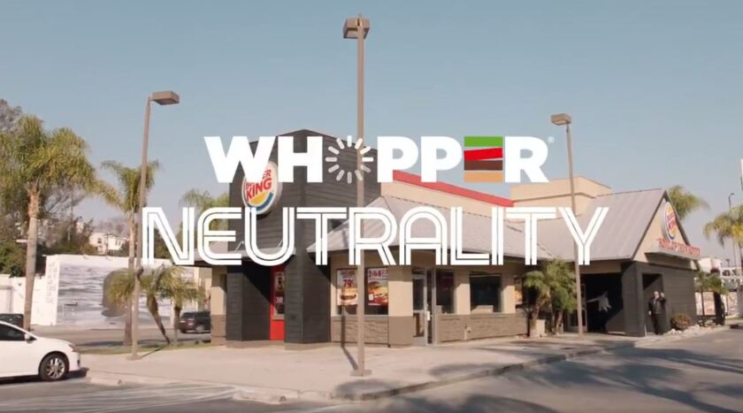 Burger King explains net neutrality with Whopper