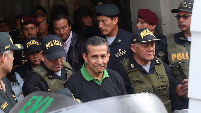 Former Peruvian president Humala and his wife heading to preventative detention