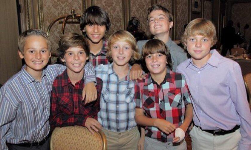 Nick, Spencer, Gianni, Julian, Alessandro, Jake, Michael
