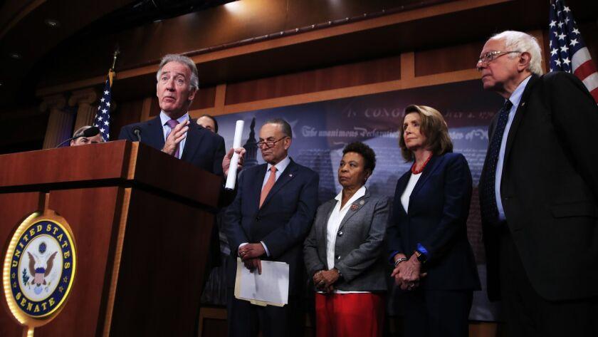 Chuck Schumer, Nancy Pelosi, Bernie Sanders, Richard Neal, Barbara Lee