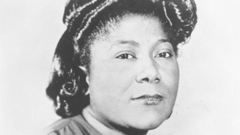 Mahalia Jackson.