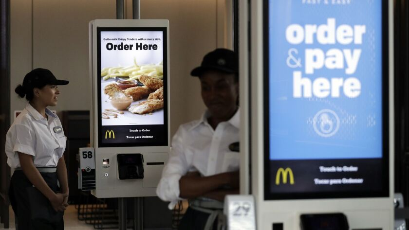 This year, McDonald's expects to modernize more than 4,000 U.S. restaurants, bringing the total number of remodeled sites to about half of the company's 14,000 U.S. restaurants. The modernized stores include touch-screen kiosks, more modern decor, table service and delivery.
