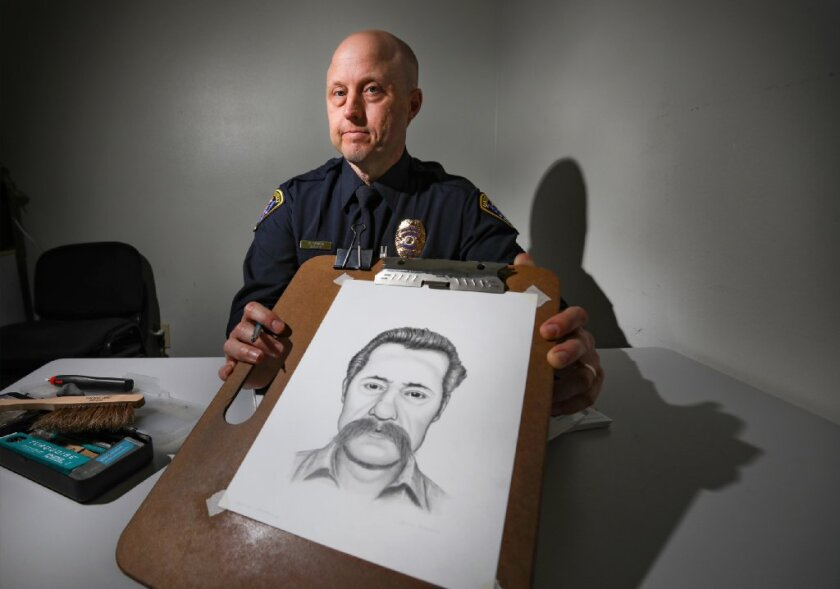 San Diego police Officer Gary Bowen is also the department's composite sketch artist, which required 120 hours of training before he was certified.
