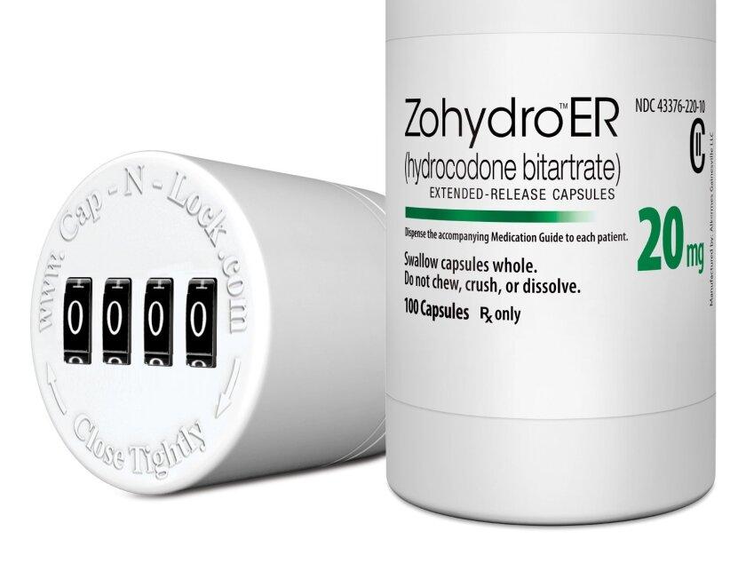 Zohydro ER, a hydrocodone painkiller made by Zogenix of San Diego.