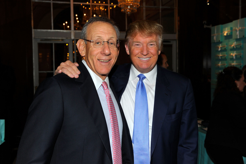 Miami Dolphins owner Stephen Ross and Donald Trump.