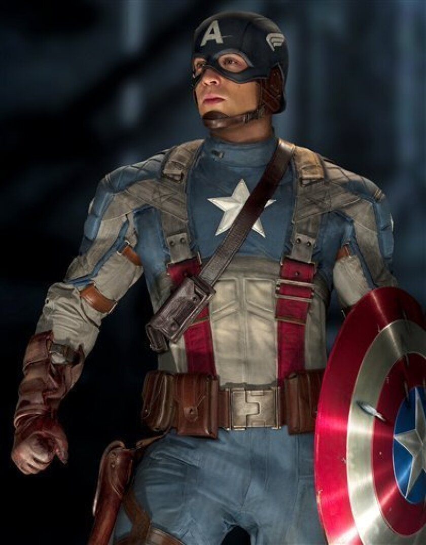 "Chris Evans as ""Captain America"" (AP Photo/Paramount Pictures)"