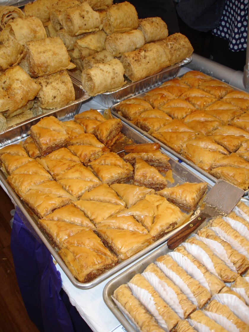 Pastries made by church volunteers are always a highlight of the Cardiff Greek Festival.
