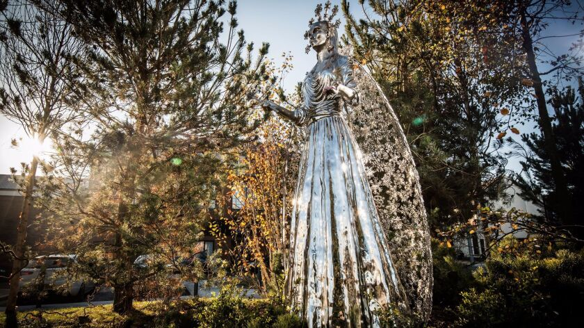 "The evil White Witch from ""The Lion, the Witch and the Wardrobe"" is one of seven new statues in C.S. Lewis Square"