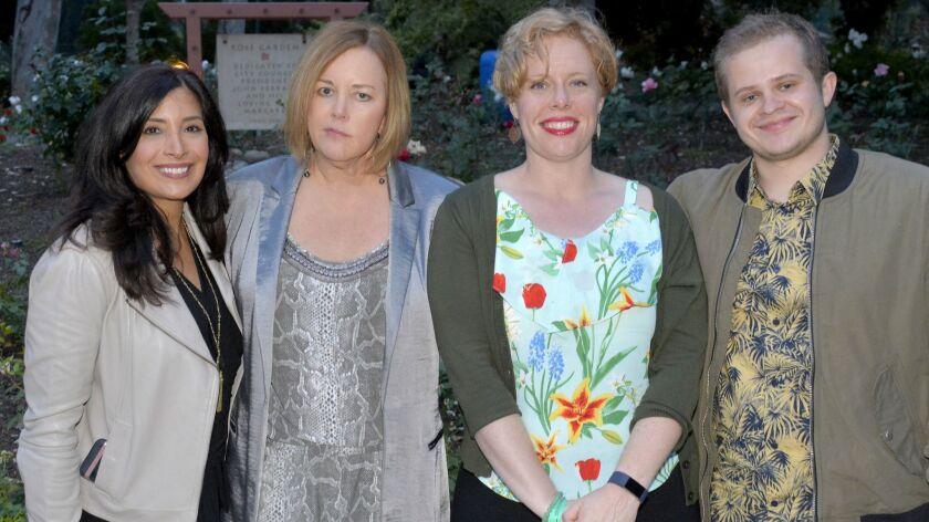 Vicky Todd, from left, Jamie Keyser Thomas, Samantha Kinne and Joe Teplicky of The Walt Disney Compa