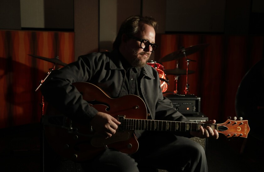 "Composer Woody Jackson, known for his music for the smash-hit video game ""Red Dead Redemption 2,"" at Vox Recording Studios in Los Angeles."