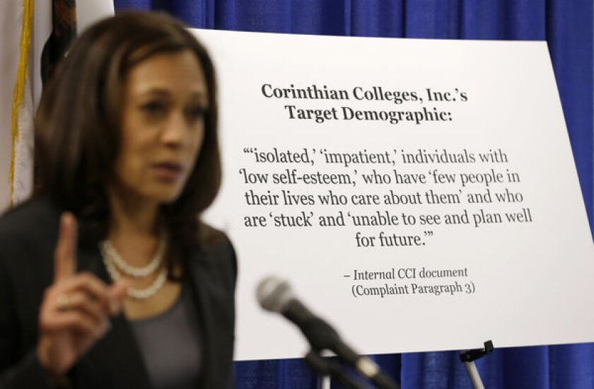 Attorney general accuses Corinthian Colleges of 'predatory' ads