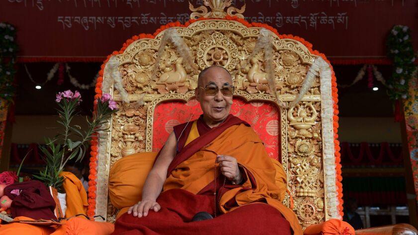 The Dalai Lama in India's Ladakh region in July