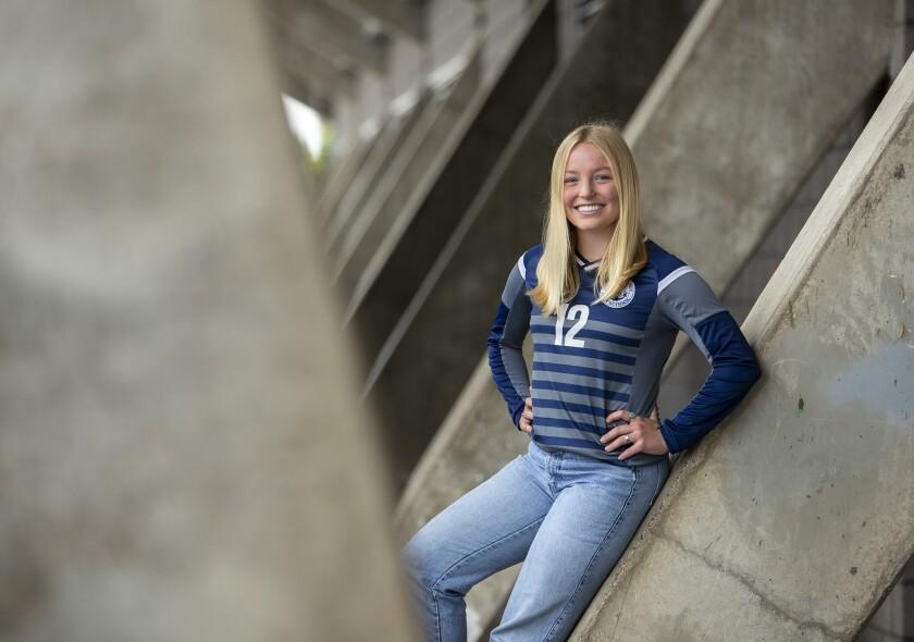 Senior midfielder Emily Johnson of Newport Harbor girls' soccer is the Daily Pilot Dream Team Player