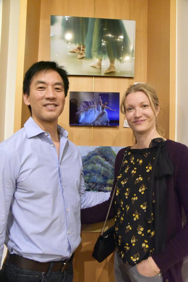 Rick Yamada and artist Julia Hiebaum