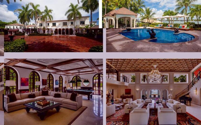 Una lujosa mansión de cuarenta estancias construida en 1923 y ubicada en la exclusiva isla de Star Island, en Miami Beach (Florida), se ha puesto a la venta por 65 millones de dólares, uno de los precios más altos registrados en el mercado de propiedades del condado de Miami-Dade. EFE/SOTHEBY´S/SÓLO USO EDITORIAL/NO VENTAS