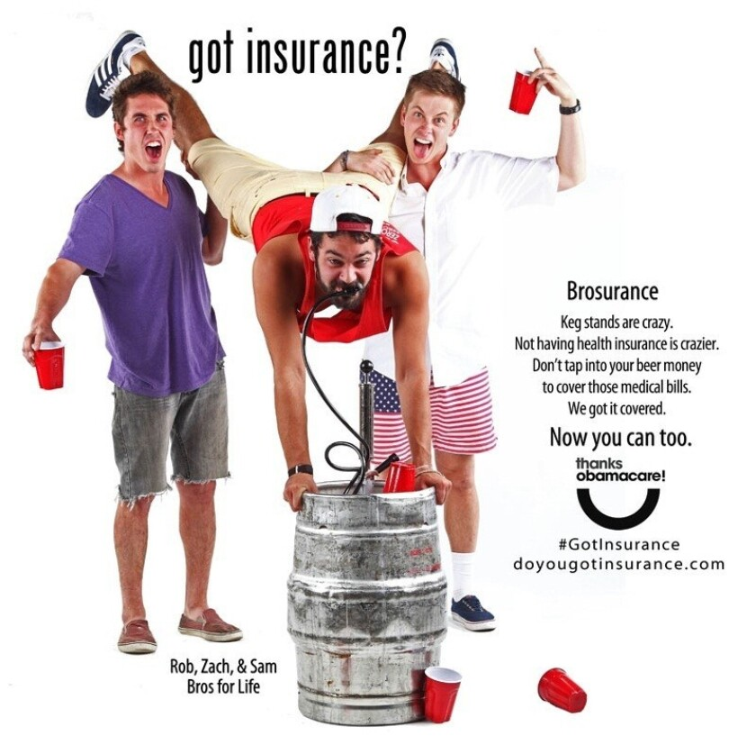 """Rob, Zach and Sam — described as """"bros for life"""" — are helping Colorado's health insurance program spread the word to young adults about the need for insurance."""