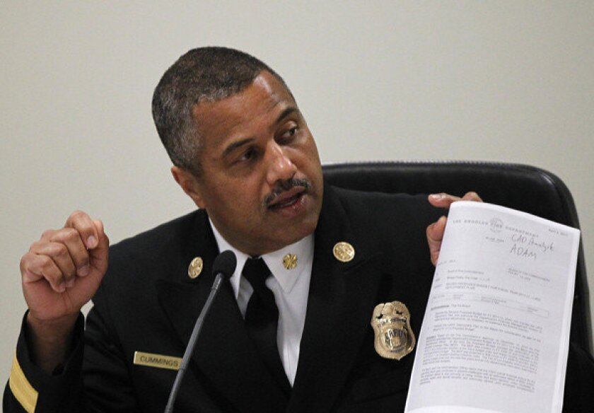 The audit findings come as Chief Brian Cummings, shown, has struggled to restore confidence in his management of the 3,500-employee Fire Department after officials admitted last year that they overstated response times, making it appear that rescuers arrived more quickly at emergencies than they actually did.