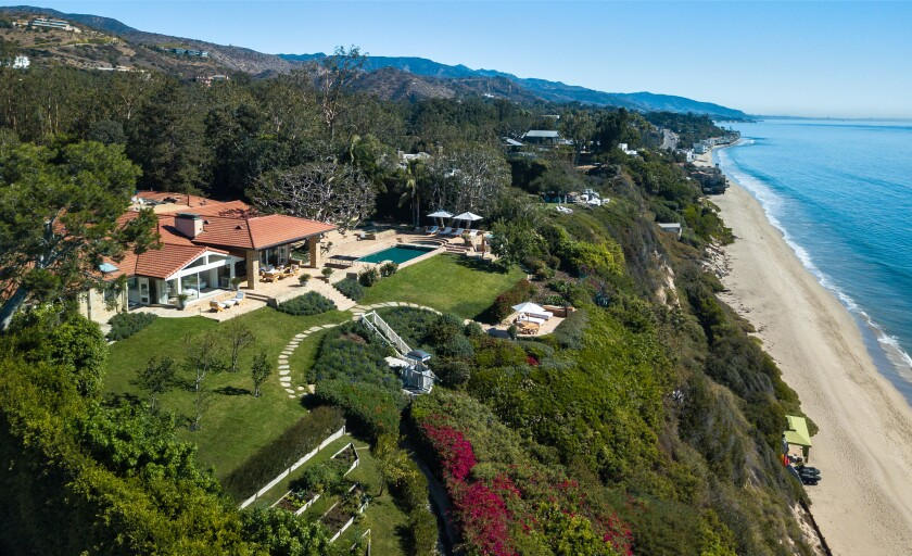 The estate overlooks Malibu's Paradise Cove.