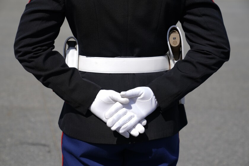 Un soldado de los marines.