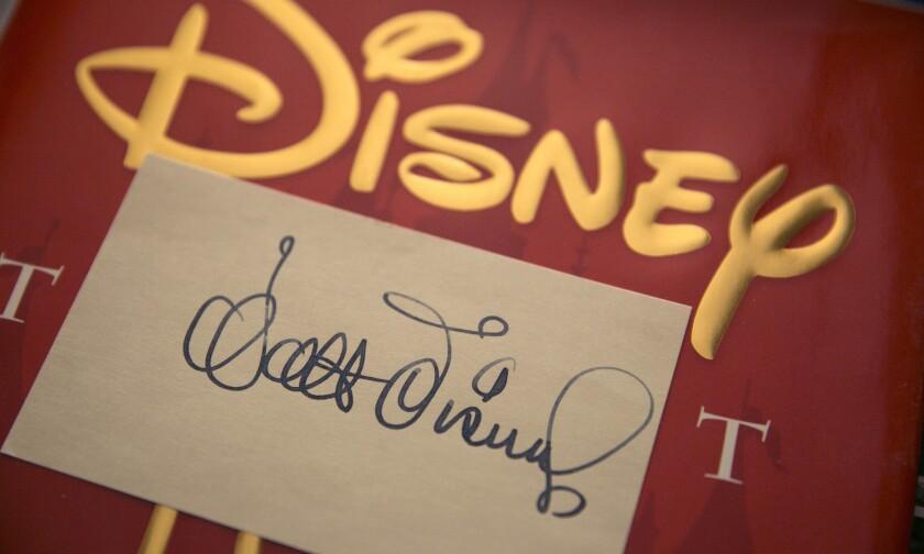 A Walt Disney autograph belonging to Disney archivist and author Dave Smith.