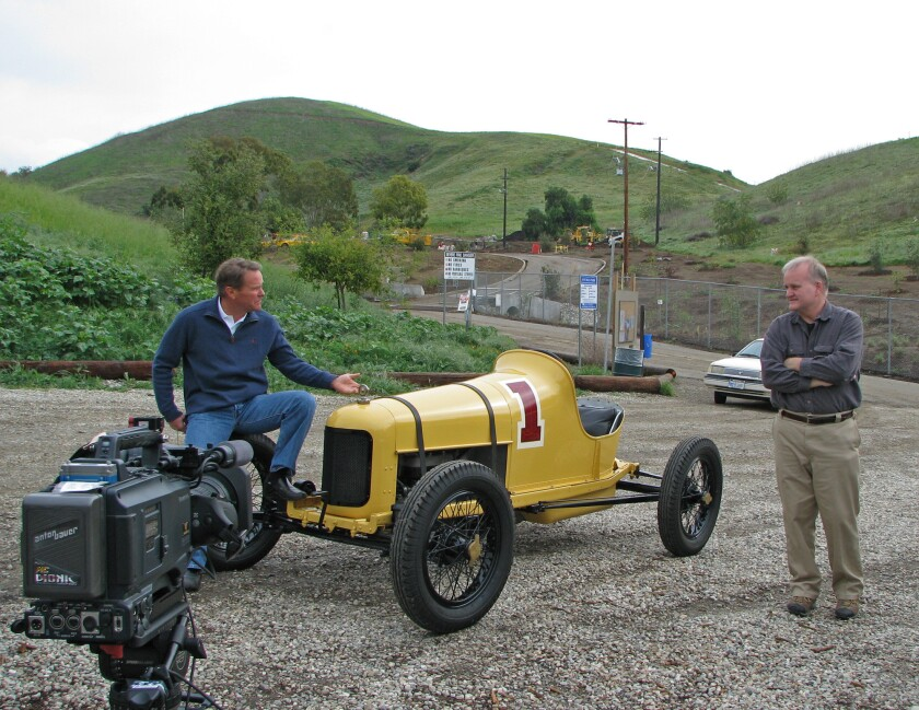 """Vintage race car owner Rick Rawlins brought his 100-year-old #1 Ford back to the Ascot Hills, where it competed a century ago, for the making of the documentary """"Where They Raced."""""""