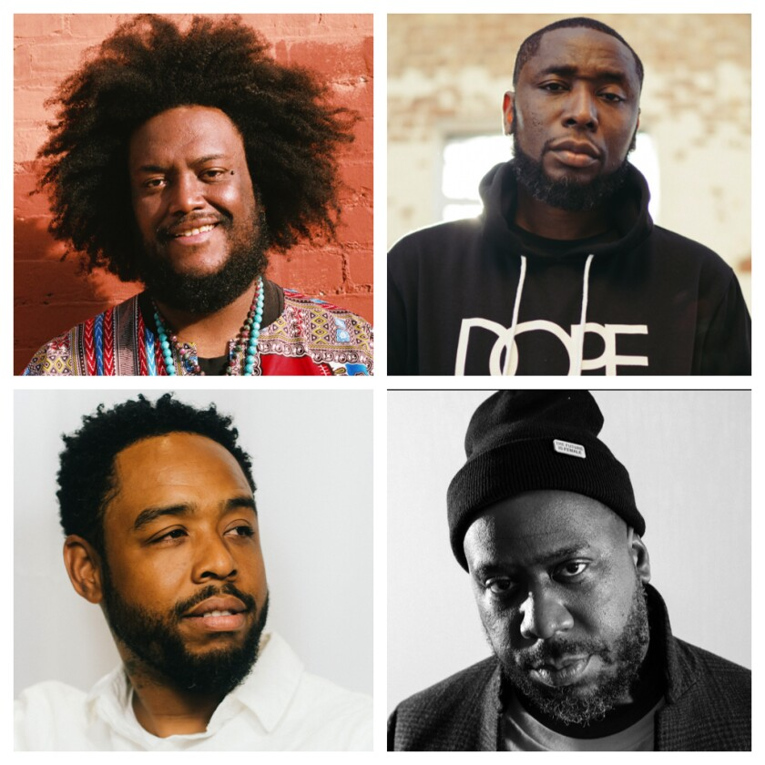 Dinner Party, clockwise from top left: Kamasi Washington, 9th Wonder, Robert Glasper and Terrace Martin.