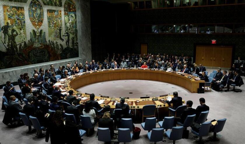 Fotografía del Consejo de la Naciones Unidas en la sede de la ONU, Nueva York, EEUU. EFE/Archivo