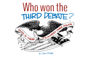 Who won the third debate?