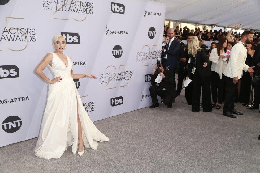 LOS ANGELES, CA - January 27, 2019- Lady Gaga arriving at the 25th Screen Actors Guild Awards at th