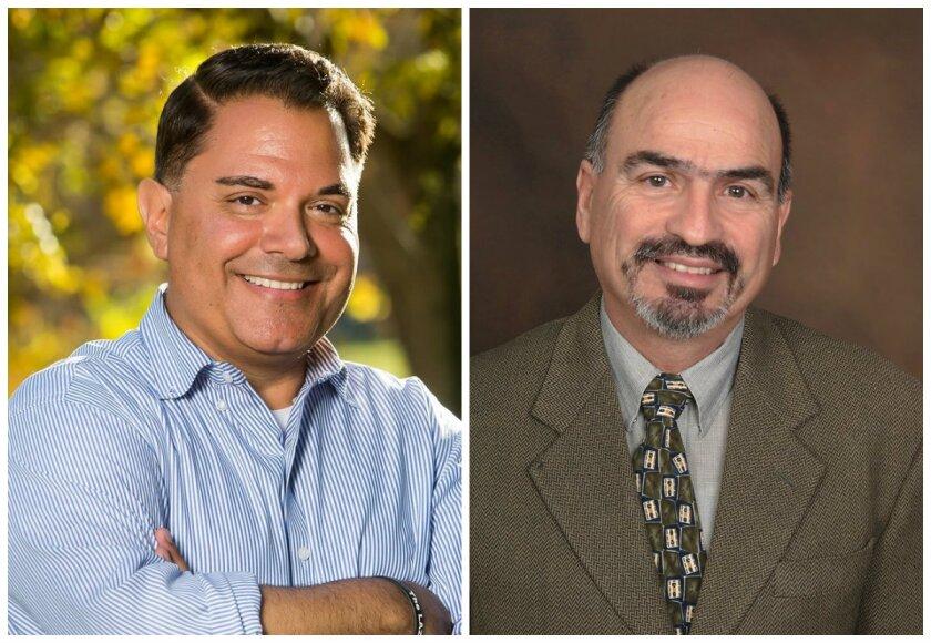 City Councilmembers Stephen Padilla, left, and Mike Diaz.