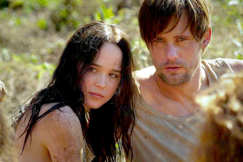 "Ellen Page and Alexander Skarsgard in ""The East."""