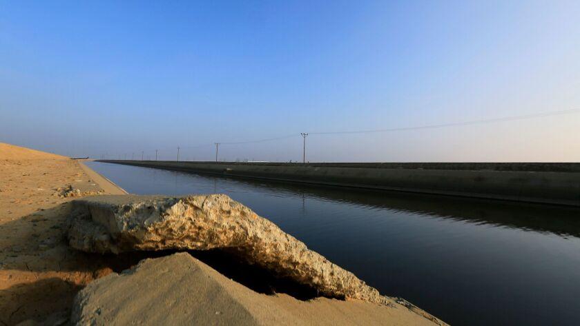 The Delta Mendota Canal on January 13, 2015 near Los Banos, California.