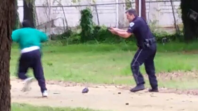 A bystander's video showed Walter Scott running away from Officer Michael Slager in North Charleston, S.C., when he was shot.