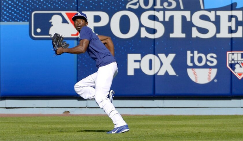 Dodgers shortstop Dee Gordon will play center field with Tigres del Licey of the Dominican Republic winter league.