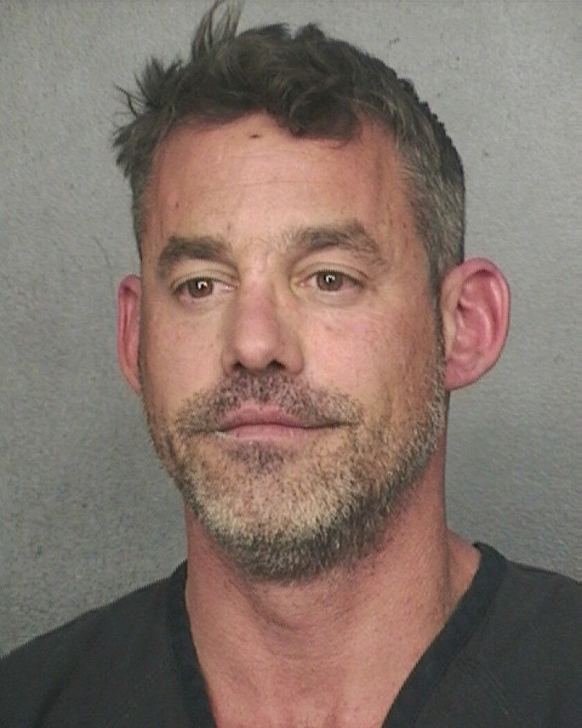 """Nicholas Brendon, who played Xander on """"Buffy the Vampire Slayer,"""" is accused of tearing up a hotel room in Fort Lauderdale, Fla."""