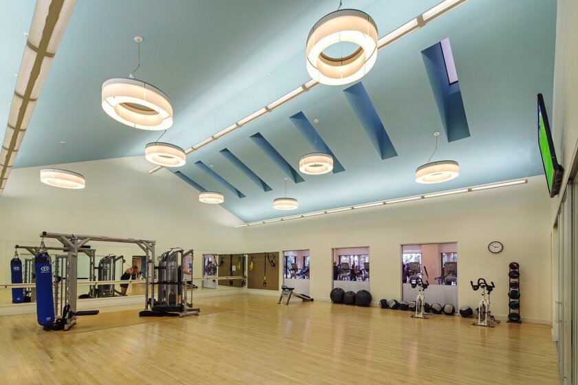 The Village now features a cardio fitness theater with cardio equipment and free weights