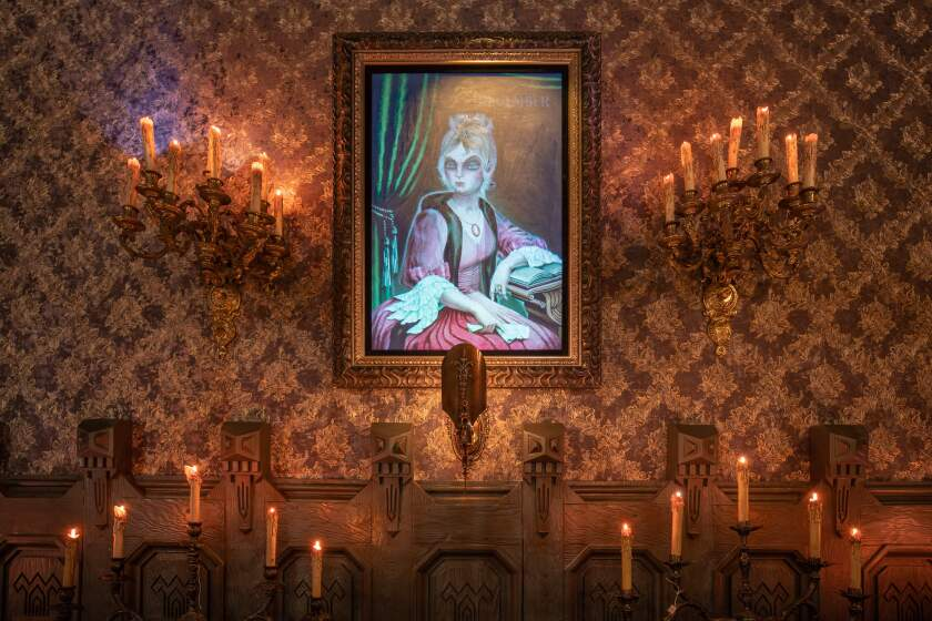 """One of the Haunted Mansion's original portraits, """"April to December,"""" is returning."""