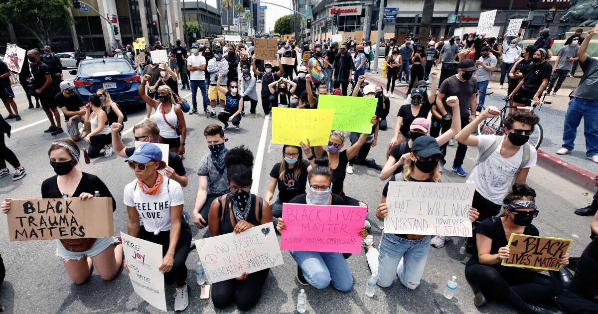 L.A. protesters marched in rich, white neighborhoods. Good