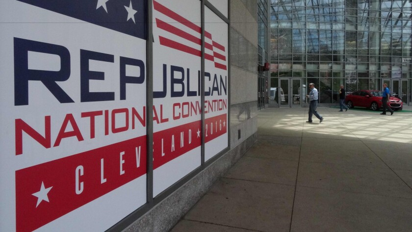 The Republican National Convention begins next week in Cleveland.
