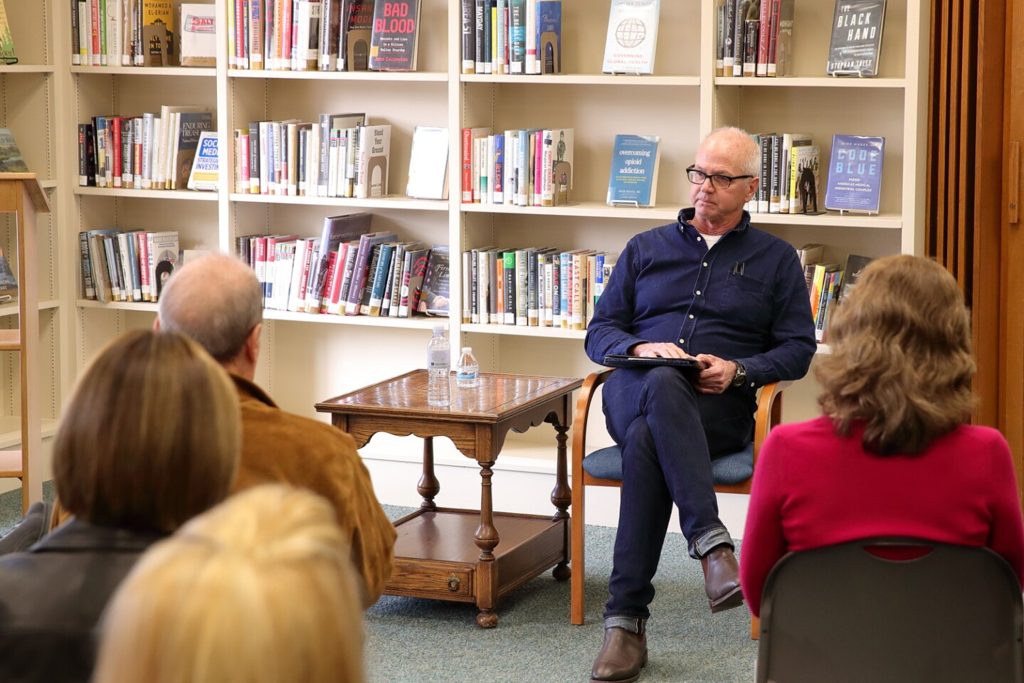 The Library Guild of RSF and WarwickÕs bookshop hosted Chris Hauty the author of ÒDeep StateÓ